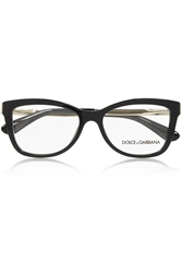 Dolce And Gabbana Square Frame Acetate And Metal Optical Glasses