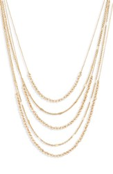 Baublebar Alandra Layered Chain Necklace White