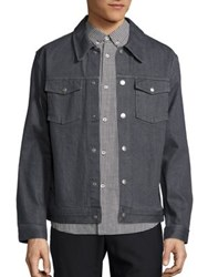 A.P.C. Blouson John Gris Denim Jacket Grey
