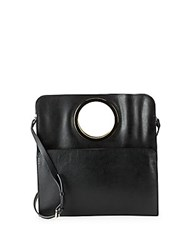 Halston Leather Tote Black