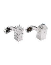 Thompson London Cufflinks And Tie Clips Silver