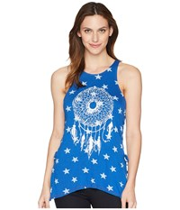 Rock And Roll Cowgirl Loose Fit Tank Top 49 5549 Blue Sleeveless