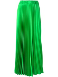P.A.R.O.S.H. Long Length Elasticated Waist Pleated Skirt Green