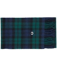 Fred Perry Black Watch Tartan Scarf Green