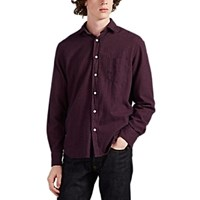 Hartford Paul Checked Cotton Flannel Shirt Navy