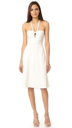 Herve Leger Kennedy Knee Length Dress Alabaster