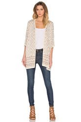 Bishop Young Aztec Cardigan Beige