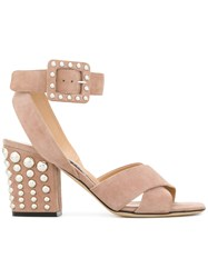 Sergio Rossi Elettra Sandals Nude And Neutrals