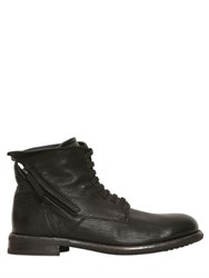 Bruno Bordese Pebbled Leather Zip Up Ankle Boots