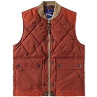 Junya Watanabe Man X Duvetica Quilted Gilet Red
