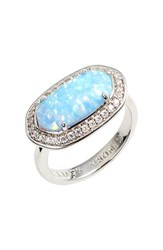 Women's Kendra Scott 'Emmaline' Ring Silver Ice Blue Kyocera Opal