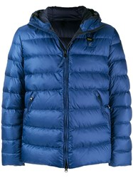 Blauer Hooded Puffer Jacket Blue