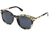 San Diego Hat Company Bsg1005 Frame Sunglasses With Side Gold Panels And Solid Tinted Round Lenses Tortoise Fashion Sunglasses Brown