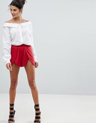 Ivyrevel Short With Split Front Hot Red