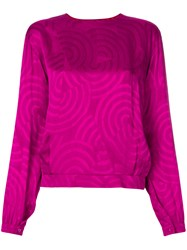 Christian Dior Vintage Patterned Blouse Pink And Purple