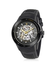 Maserati Corsa Black Stainless Steel Automatic Skeleton Men's Watch