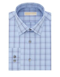 Michael Michael Kors Slim Fit Cotton Dress Shirt Blue Crystal