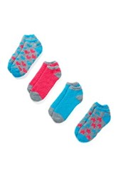 Magid No Show Socks 4 Pack Multi