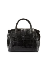 Nancy Gonzalez Cristina Medium Crocodile Tote Bag Black Matt