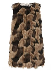 Dorothy Perkins Faux Fur Gilet Green