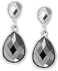 Style And Co. Earrings Silver Tone Double Teardrop Earrings