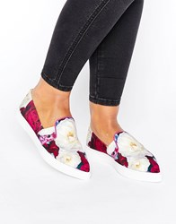Ted Baker Thfia Blushing Bouquet Slip On Plimsolls Blushing Bouquet Tex Multi