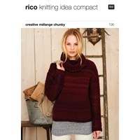 Rico Creative Melange Chunky Women's Jumper Knitting Pattern 195