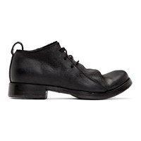Boris Bidjan Saberi Black Molded Lace Up Derbys