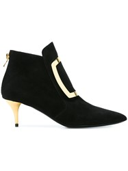 Balmain Kitten Heel Booties Black