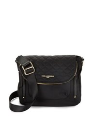 Karl Lagerfeld Quilted Messenger Bag Navy