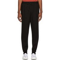 Mcq By Alexander Mcqueen Black Taped Tailored Lounge Pants