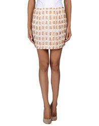 Antik Batik Skirts Mini Skirts Women Ivory