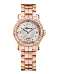 Chopard Happy Sport 18K Rose Gold Automatic Watch With Diamonds