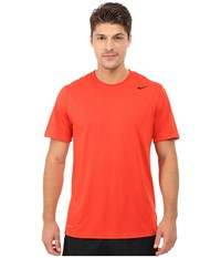Nike Legend Dri Fit Poly S S Crew Top Light Crimson Men's Short Sleeve Pullover Red