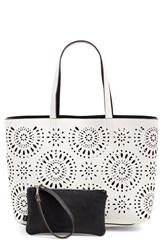 Echo 'Starburst' Reversible Tote White White Black