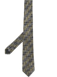 Cerruti 1881 Parkay Tile Patterned Tie Multicolour