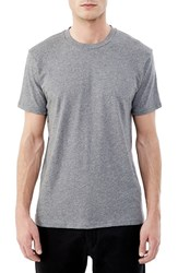 Alternative Apparel Men's 'Perfect' Organic Pima Cotton Crewneck T Shirt Oxford Grey Heather