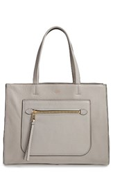 Vince Camuto Elvan Leather Tote Grey Full Steam