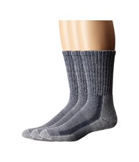 Thorlos Light Hiker Crew 3 Pair Pack Navy Heather Men's Crew Cut Socks Shoes Gray