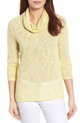 Gibson Women's Raglan Sleeve Cowl Neck Sweater Yellow Cream Ivory