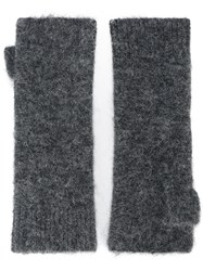 Isabel Marant Cruz Fingerless Gloves Women Acrylic Polyamide Spandex Elastane Alpaca One Size Grey