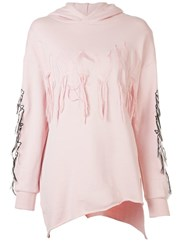 Haculla Visionary Asymmetric Patch Hoodie Pink