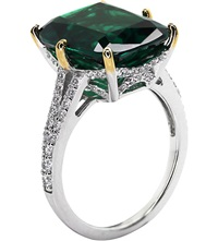 Carat Grand Canary 8Ct Cocktail Ring Green