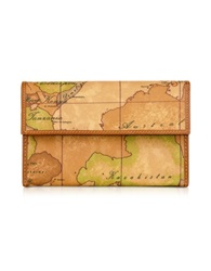 Alviero Martini Geo Print Flap Wallet Natural