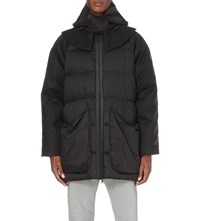 Moncler X Off White Long Quilted Cotton Jacket Black