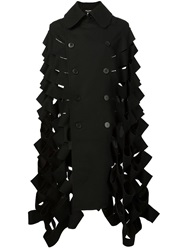 Junya Watanabe Comme Des Garcons Cutout Double Breasted Cape Black