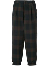 Kolor Checked Loose Fit Trousers Multicolour
