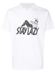 Alyx Stay Lazy T Shirt Unisex Cotton Polyester L White