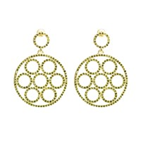 Latelita London Gold Olympics Earring Peridot Gold Green