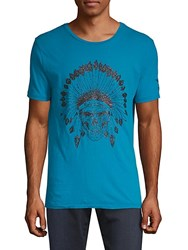 Robin's Jean This Is America Cotton Tee Turquoise